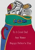 Add A Name Father's Day-Dad's Golf Clubs